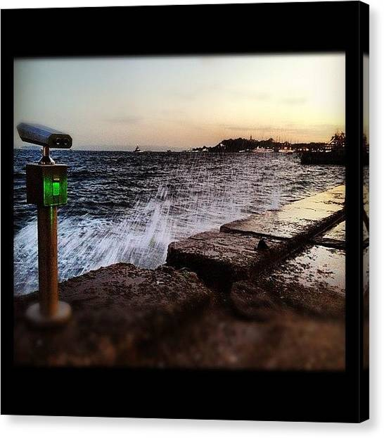 Liquids Canvas Print - Istanbul View by Armando Costantino