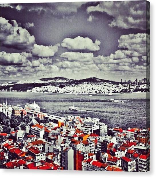 Turkish Canvas Print - Istanbul View by Ernesto Cinquepalmi