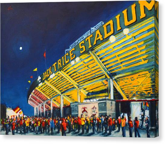 Iowa State University Canvas Print - Isu - Jack Trice Stadium by Robert Reeves