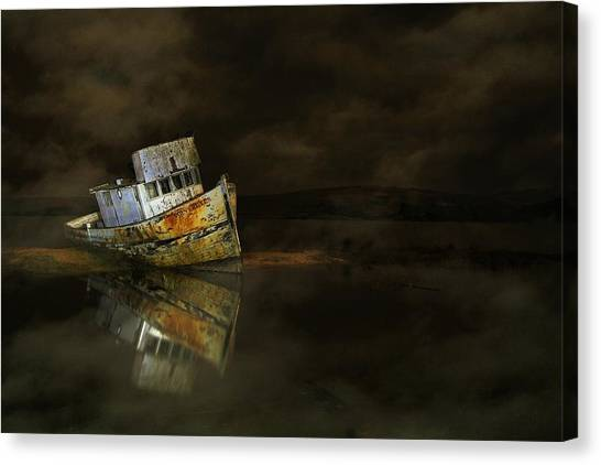 It All Ends In The Fog Canvas Print