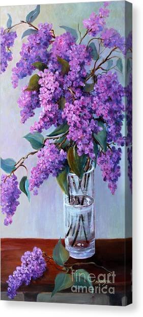 It Is Lilac Time Canvas Print by Marta Styk