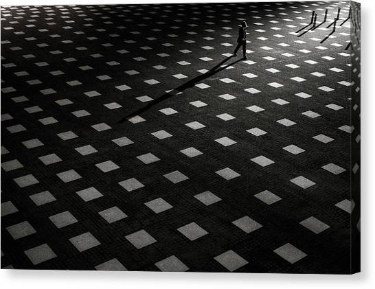 Grid Canvas Print - It Is Scattered by Kouji Tomihisa