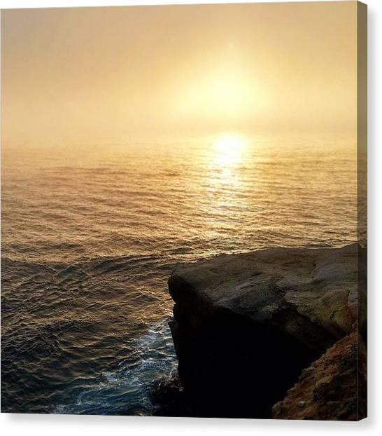 Beach Cliffs Canvas Print - It Just Keeps On Going #beach #cliff by Brandon Yamaguchi
