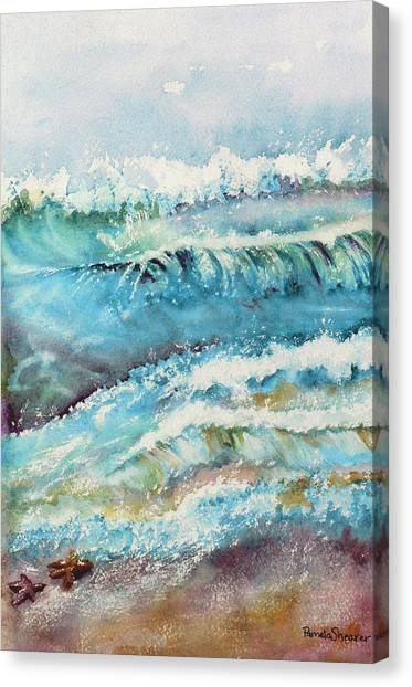 It Makes A Difference To One Little Starfish Canvas Print