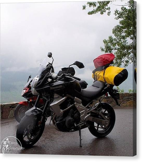 Yamaha Canvas Print - It Was Nice Ride. Rock On The Right; by Denis Semenov