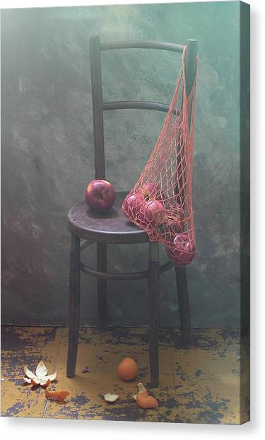 Basket Canvas Print - It Was Recently... by Ustinagreen