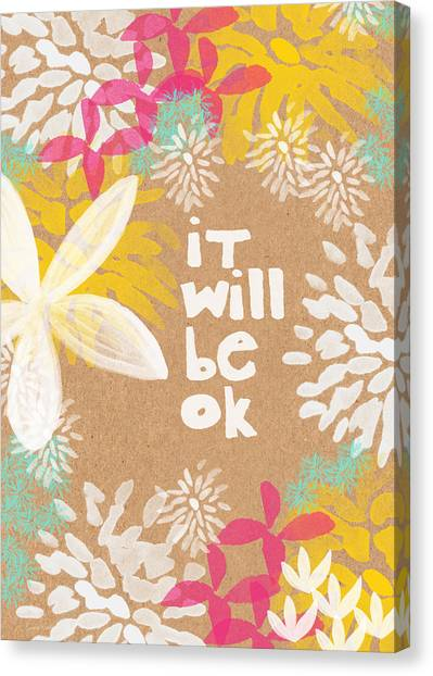 Daisy Canvas Print - It Will Be Ok- Floral Design by Linda Woods