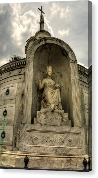 Italian  Benevolent Society Tomb Canvas Print