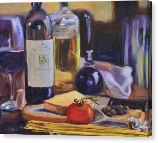 Italian Kitchen Canvas Print