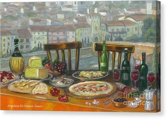 Italian Lunch Canvas Print