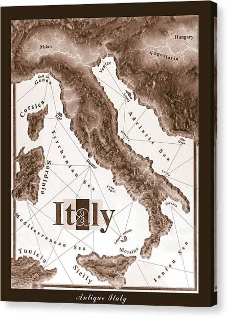 Italian Map Canvas Print
