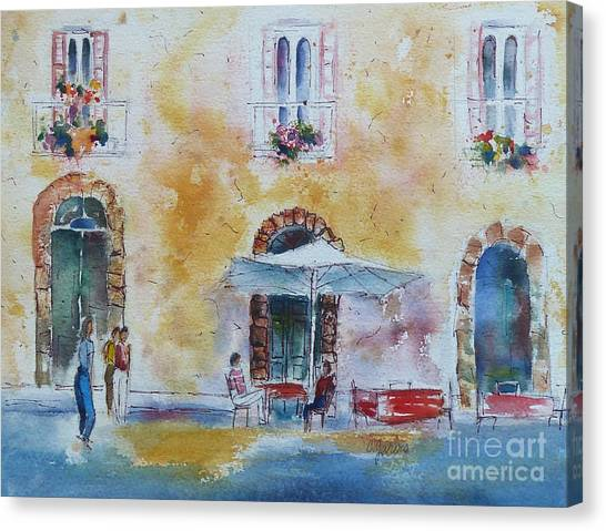 Italian Piazza Canvas Print