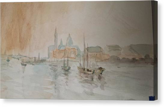 Italian Seaport Canvas Print