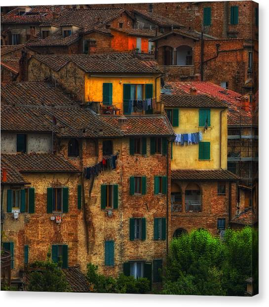 Italian Village View Canvas Print