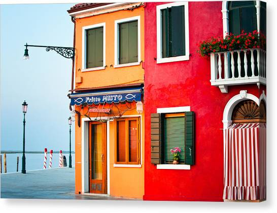 Italy Burano Fish Shop Canvas Print