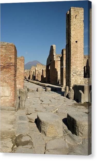 Mount Vesuvius Canvas Print - Italy, Campania, Pompeii by Jaynes Gallery