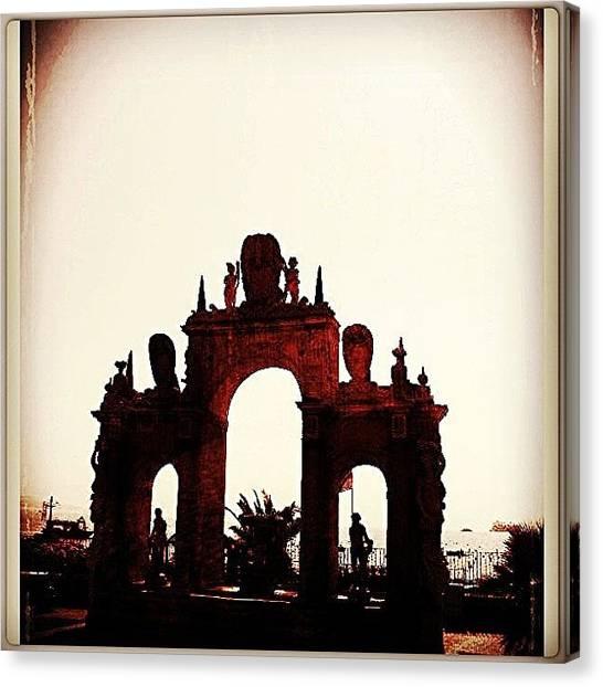 Portal Canvas Print - #italy #italia #napoli #naples by Marco Santos