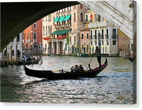 Gondola Ride Canvas Print - Italy, Venice Tourist Take Snap Shots by David Noyes