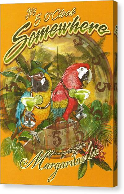 Limes Canvas Print - It's 5 O'clock Somewhere by Desiderata Gallery