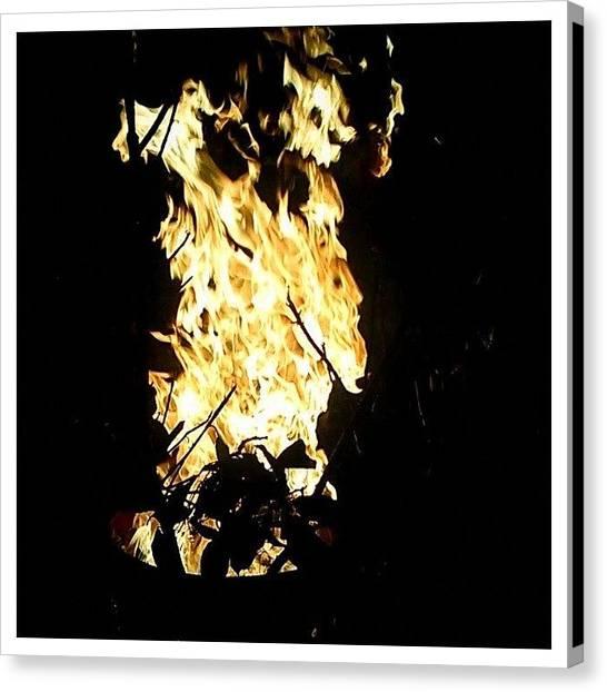 Flames Canvas Print - It's A Farre! #baltimore #fire #warm by Matthew Saindon