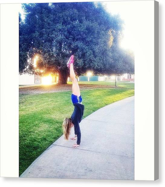 Ucsb Canvas Print - It's A Great Day For A Handstand!! by Mckenzie Kane
