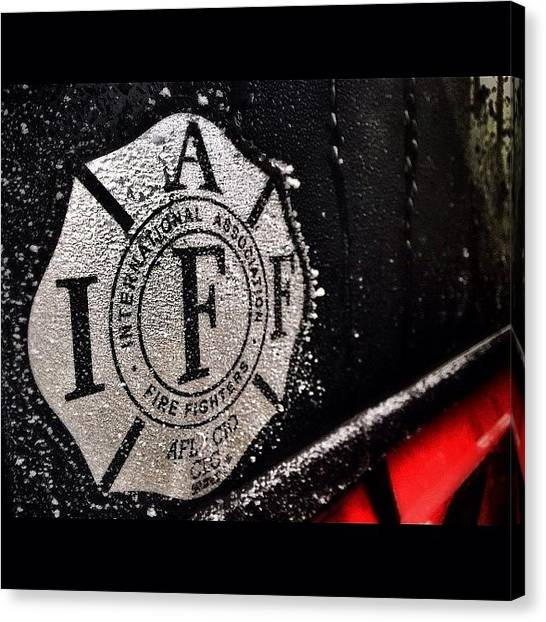 Firefighters Canvas Print - It's A Little Cold Outside. ;) #frost by James Crawshaw