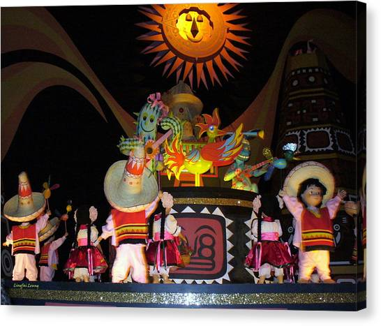 It's A Small World With Dancing Mexican Character Canvas Print