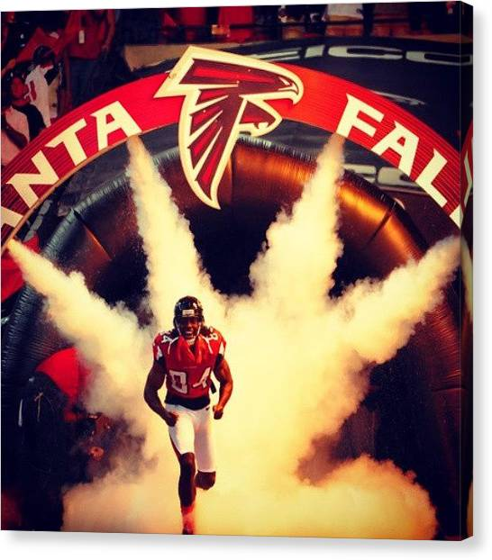 Falcons Canvas Print - Its About To Go Down!! #riseup #atlanta by Kyle Walker