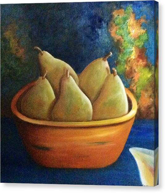 It's All About Pears  Sold Canvas Print