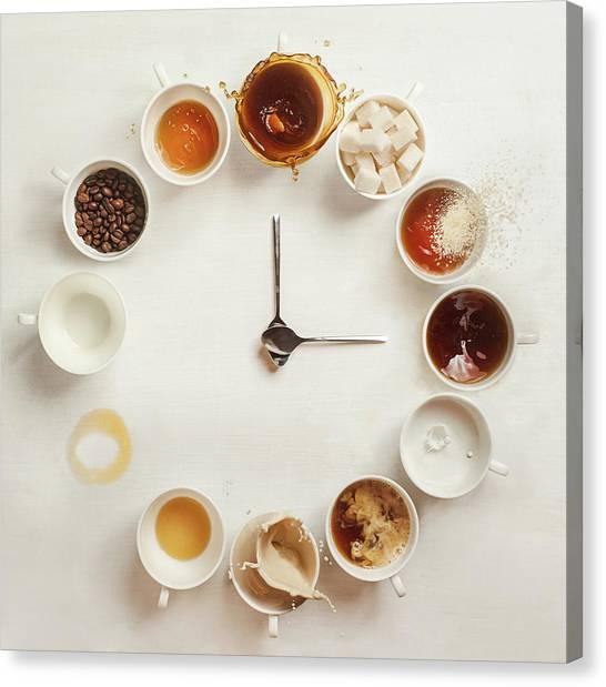 Empty Canvas Print - It's Always Coffee Time by Dina Belenko