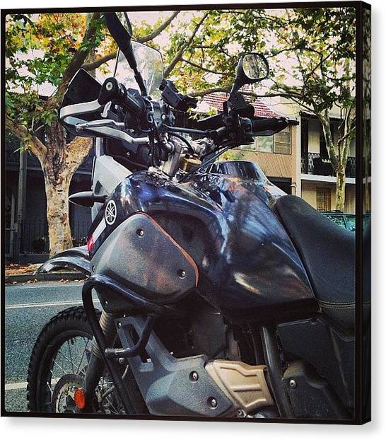 Yamaha Canvas Print - It's Always Good To Ride by Matthew Vasilescu