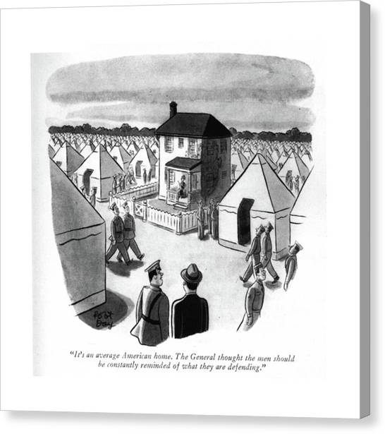 Old Houses Canvas Print - It's An Average American Home. The General by Robert J. Day