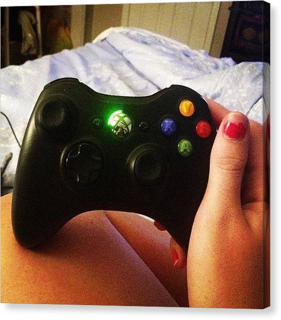 Xbox Canvas Print - It's Been A While ☺💕🎮 #xbox by Janine Mahnken