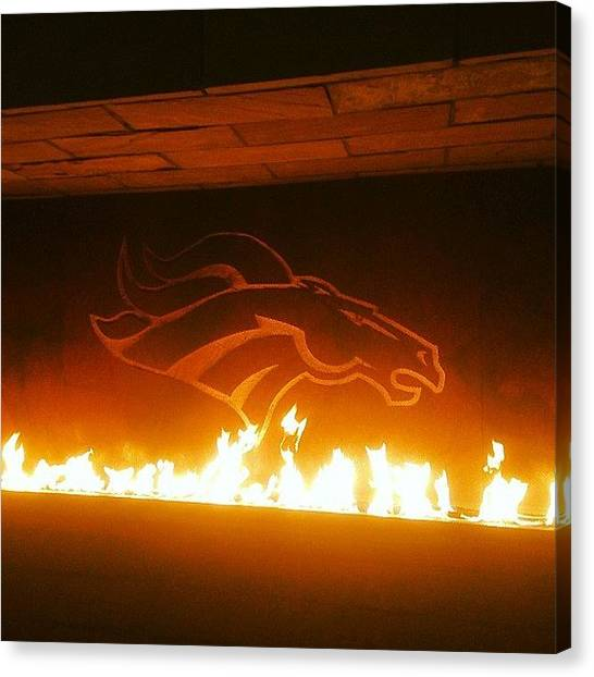 Football Teams Canvas Print - It's #broncos Time! #denver #colorado by Amberly Rose