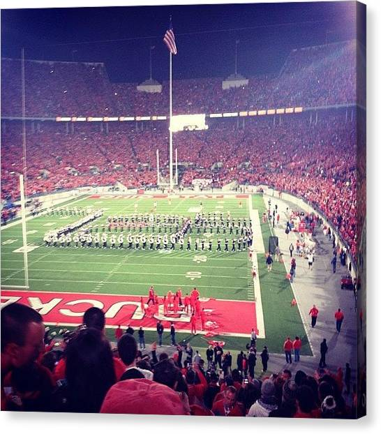 Ohio State University Canvas Print - Buckeyes by Brooke Wheeler