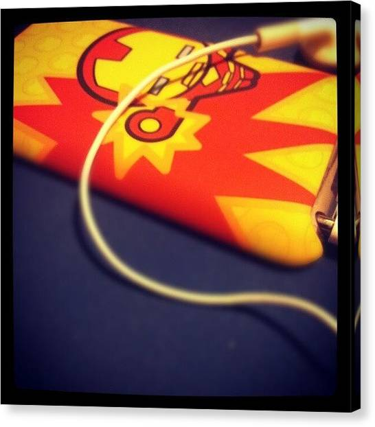 Headphones Canvas Print - Its #ironman! #instagood #instagram by Xavier Healy