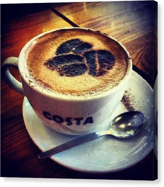 Ford Canvas Print - It's Mocha Time!!! At #costa Coffee In by Alistair Ford