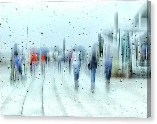 Drops Canvas Print - It`s Raining by Anette Ohlendorf