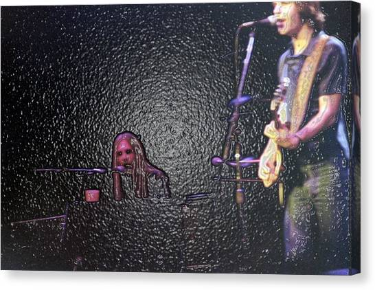 Midnite Canvas Print - Its So Easy To Slip by Susan Carella