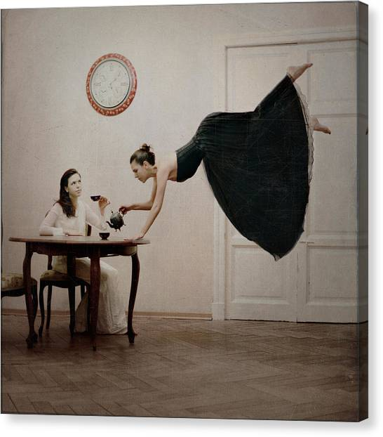 Tea Time Canvas Print - It's Tea Time by Anka Zhuravleva