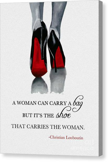 Oil Canvas Print - It's The Shoe That Carries The Woman by My Inspiration