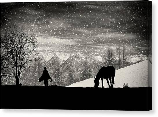Winter Canvas Print - It's Time To Go by Vito Guarino