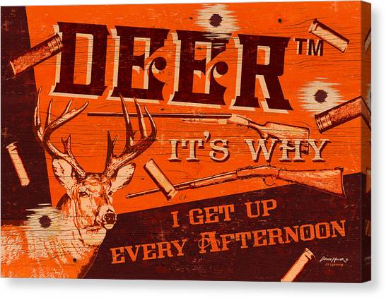 Shotguns Canvas Print - It's Why Deer by JQ Licensing