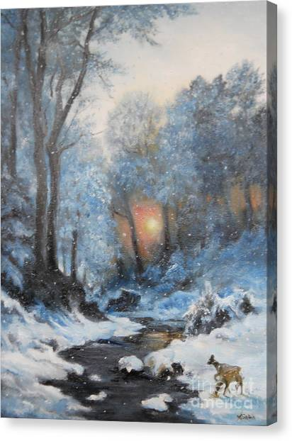It's Winter Canvas Print