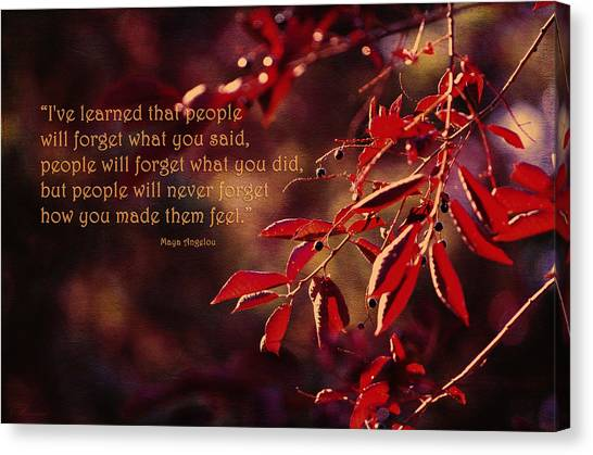 I've Learned - Maya Angelou Canvas Print