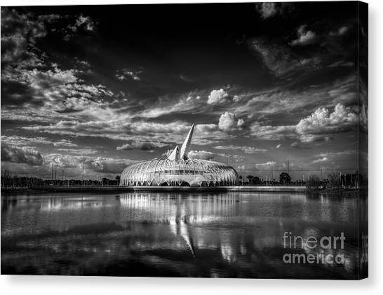 University Of Florida Canvas Print - Ivory Tower Of Knowledge Bw by Marvin Spates