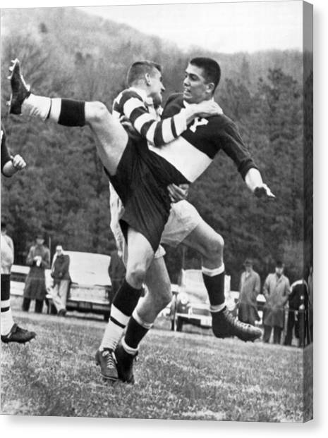 Polo Canvas Print - Ivy League Rugby Match by Underwood Archives