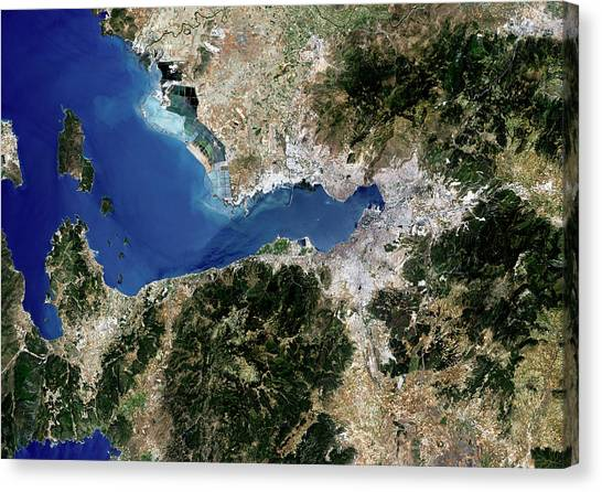 Izmir Canvas Print by Planetobserver/science Photo Library