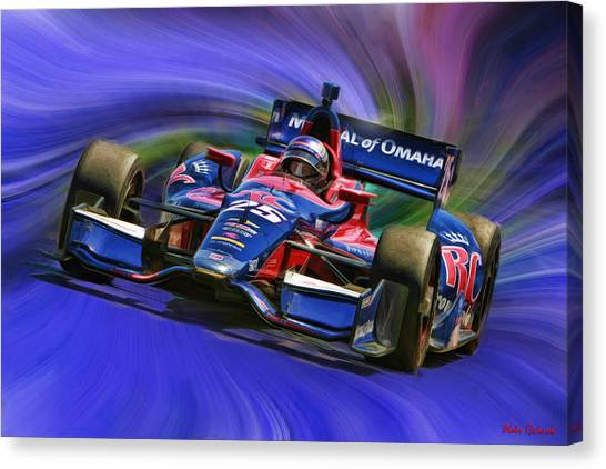 Marco Andretti Canvas Print - Izod Indycar Series Marco Andretti  by Blake Richards