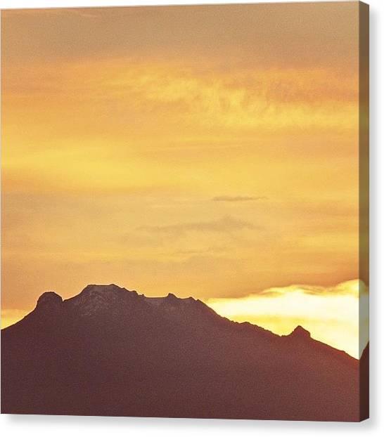 Lava Canvas Print - Iztaccíhuatl. #volcan #iztaccihuatl by Ale Silva